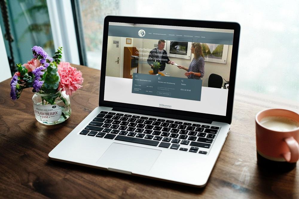 Die neue Internetseite der Naturheilpraxis Diers aus Hannover (List) ist online
